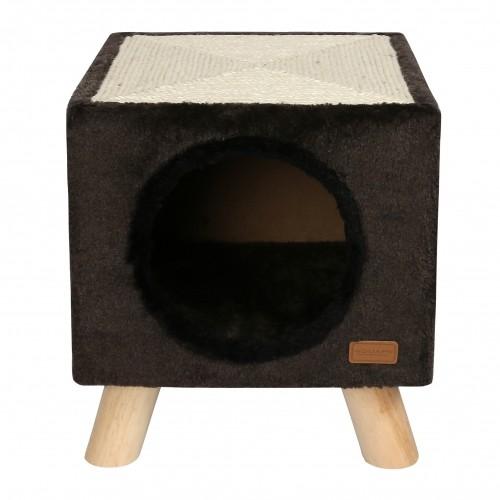 Couchage pour chat - Maison Piloti avec griffoir pour chats