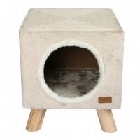 Maison pour chat - Maison Piloti avec griffoir Wouapy