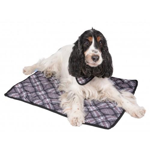 Couchage pour chien - Tapis rafraîchissant gris pour chiens