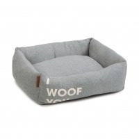 Couchage pour chien - Panier I Woof You - Gris