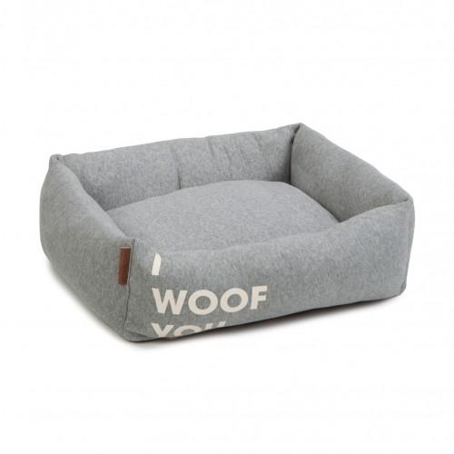 Couchage pour chien - Panier I Woof You - Gris pour chiens