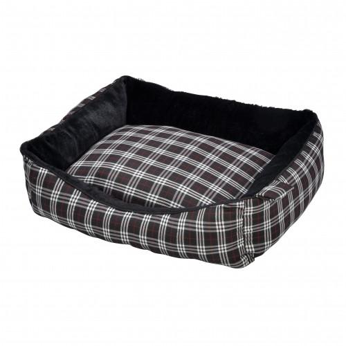 Couchage pour chat - Corbeille Tartan Noire pour chats