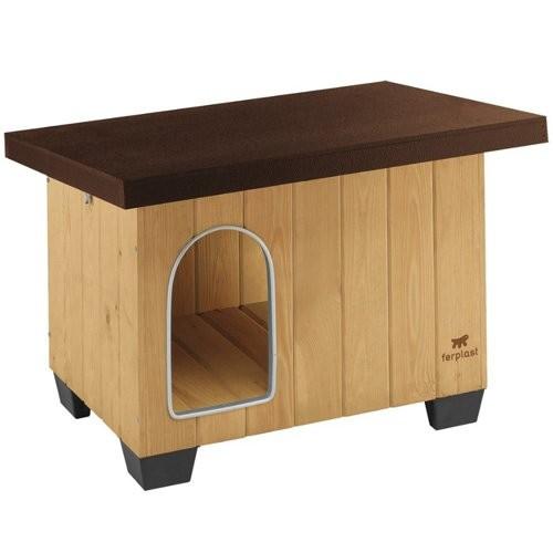 Couchage pour chien - Niche Baita en bois de pin pour chiens