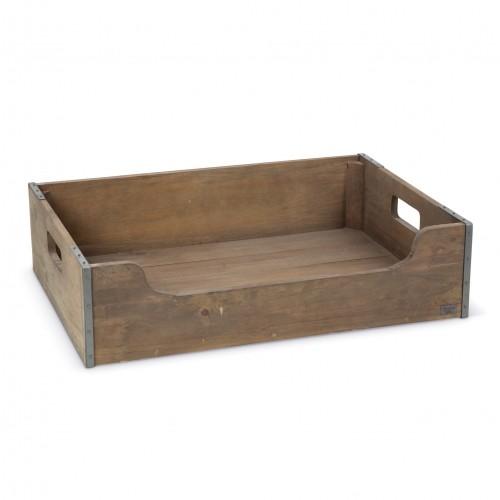 caisse en bois panier pour chien designed by lotte wanimo. Black Bedroom Furniture Sets. Home Design Ideas