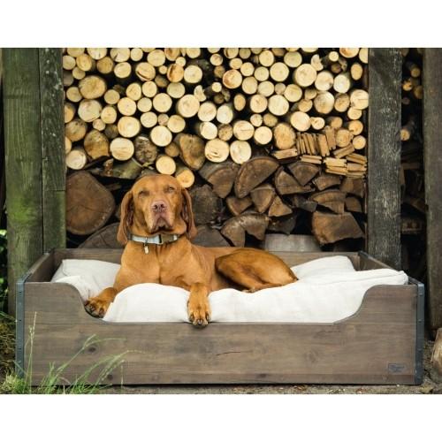 Couchage pour chien - Caisse en bois pour chiens