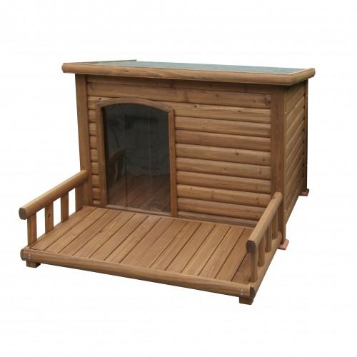 Couchage pour chien - Niche avec terrasse Farniente pour chiens