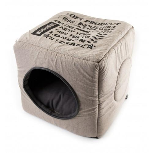 Couchage pour chien - Maison 2 en 1 Industriel pour chiens