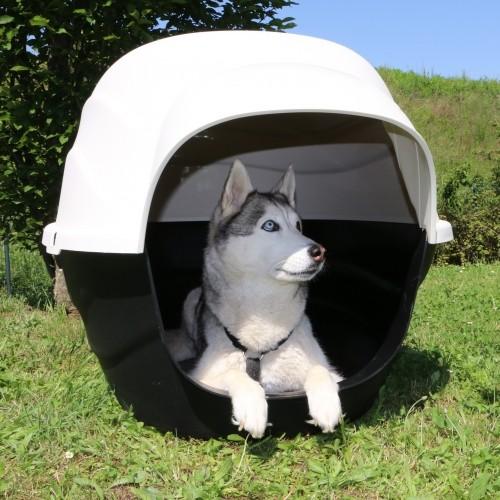 Couchage pour chien - Niche Igloo noire pour chiens