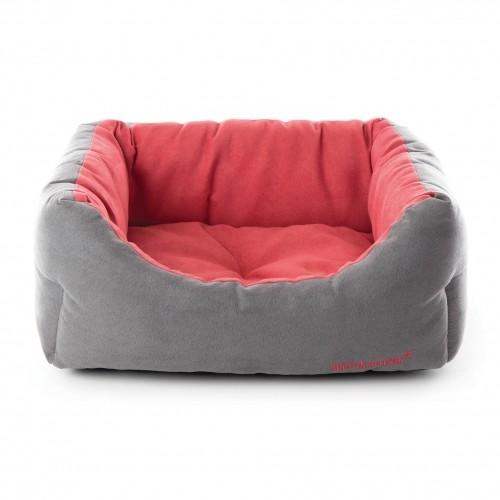 Couchage pour chien - Corbeille Domino Gris Fushia pour chiens