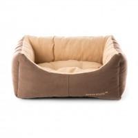 Panier et lit pour chien - Corbeille Domino marron beige Martin Sellier