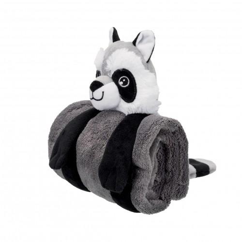 Couchage pour chien - Set plaid et jouet Racoon pour chiens