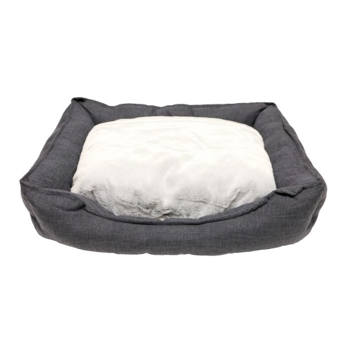 Couchage pour chien - Corbeille Cosy Life Dark Grey pour chiens