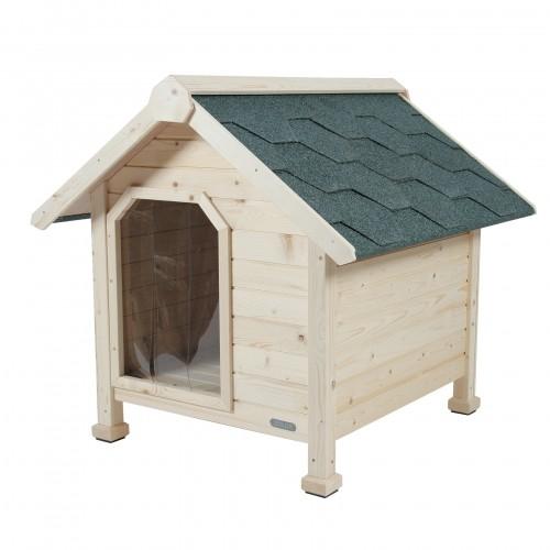 Couchage pour chien - Niche en bois chalet pour chiens