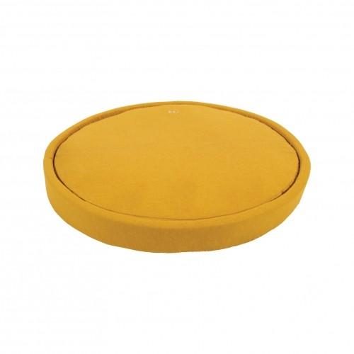 Couchage pour chien - Corbeille ronde Milano - Moutarde pour chiens