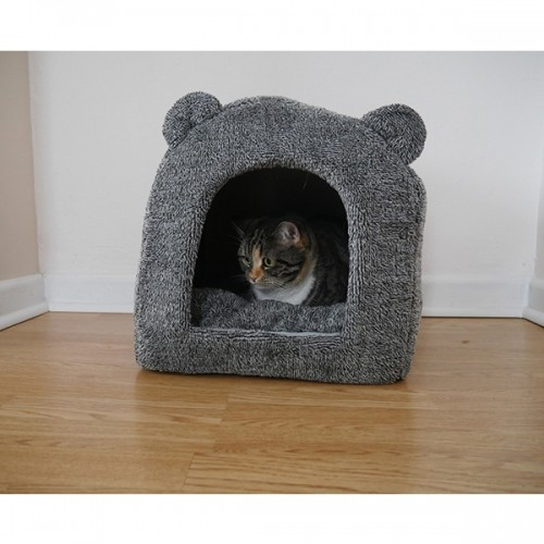 Couchage pour chat - Igloo Teddy Bear Rosewood pour chats
