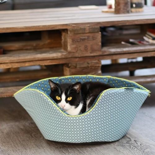 Couchage pour chat - Corbeille saladier réversible Mozaïc pour chats