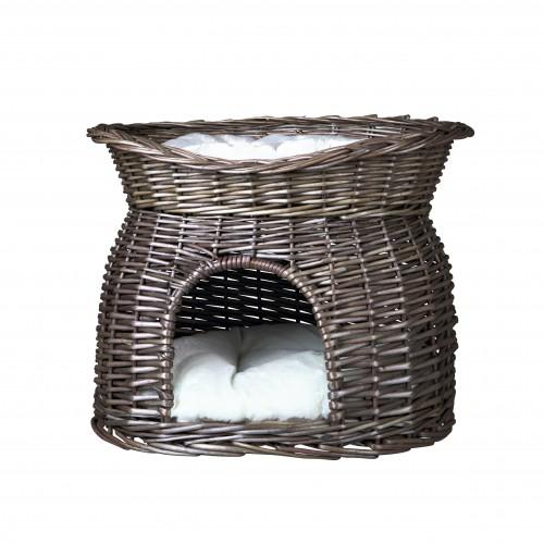 Couchage pour chien - Panier osier 2 en 1 pour chiens