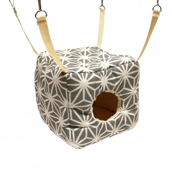 Couchage pour furet - Cube Edelweiss Cream pour furets