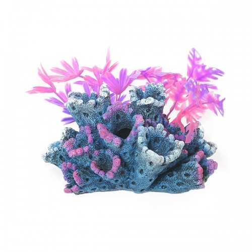 Décoration pour aquarium - Roche fantasy avec plantes pour poissons