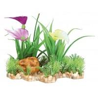 Décoration pour aquarium - Plante sur lit de gravier Trixie