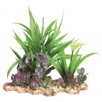 Décoration pour aquarium - Plante sur lit de gravier 18 cm Trixie