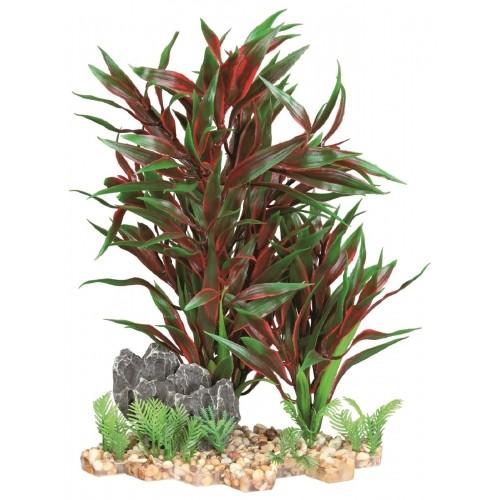 Décoration pour aquarium - Plante sur lit de gravier pour poissons