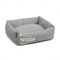 Panier pour chien - Panier I Woof You - Gris Beeztees