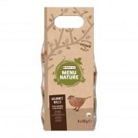 Aliment oiseaux du ciel - Balles gourmandes raisins et flocons d'avoine - Menu Nature Versele Laga