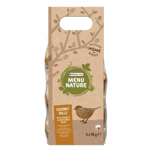 Aliment oiseaux du ciel - Balles gourmandes cacahuète et tournesol - Menu Nature Versele Laga