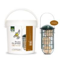 Boules de graisse pour oiseaux des jardins - Boules de graisse en seau sans filet Hamiform