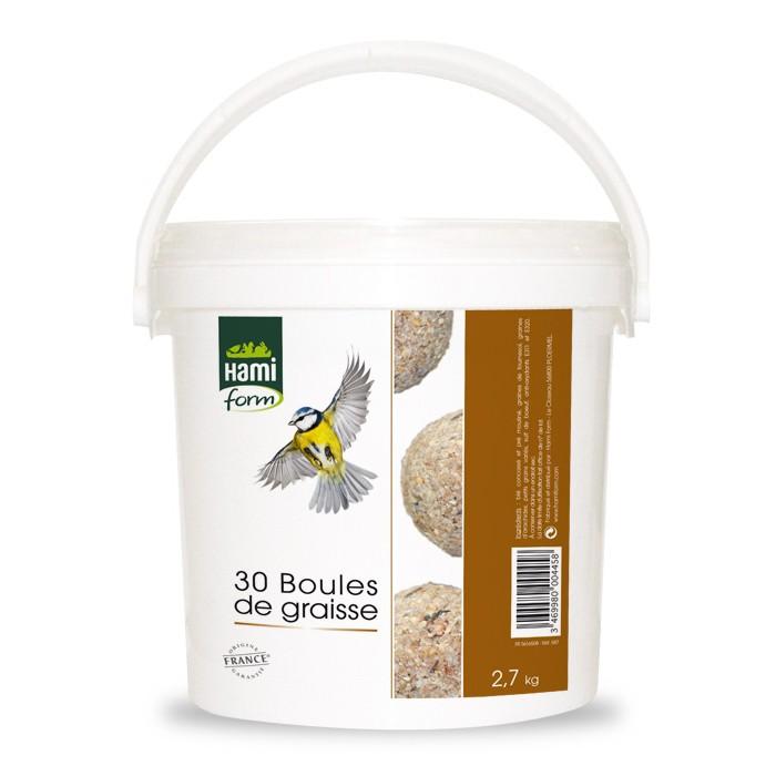Boules de graisses en seau boules de graisses hamiform - Boules de graisse pour oiseaux ...