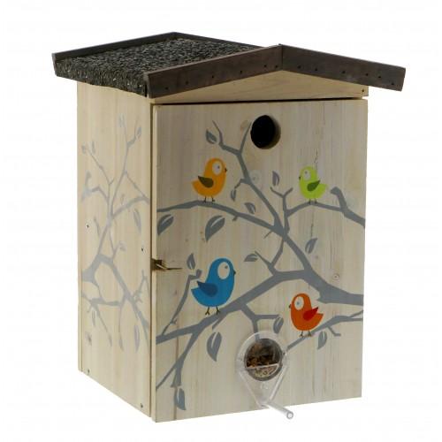 EXTERIEUR - Oiseaux des jardins - Nichoir/Mangeoire Funny pour oiseaux