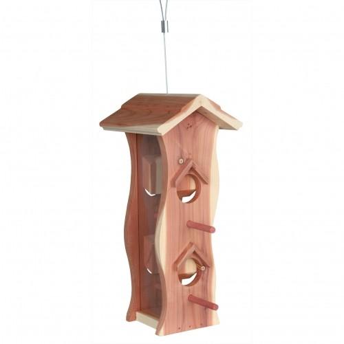EXTERIEUR - Oiseaux des jardins - Natura distributeur bois de cèdre pour oiseaux