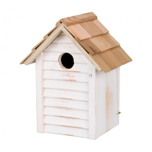 EXTERIEUR - Oiseaux des jardins - Nichoir blanc pour oiseaux