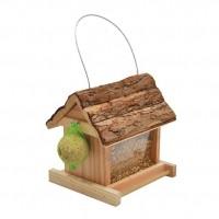 Mangeoire pour oiseaux - Mangeoire Lidia toit écorce Vadigran