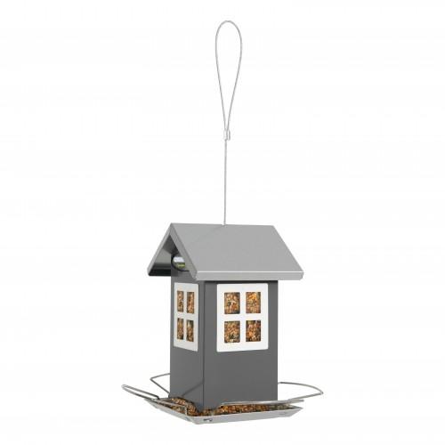 EXTERIEUR - Oiseaux des jardins - Mangeoire Maison 4 fenêtres pour oiseaux