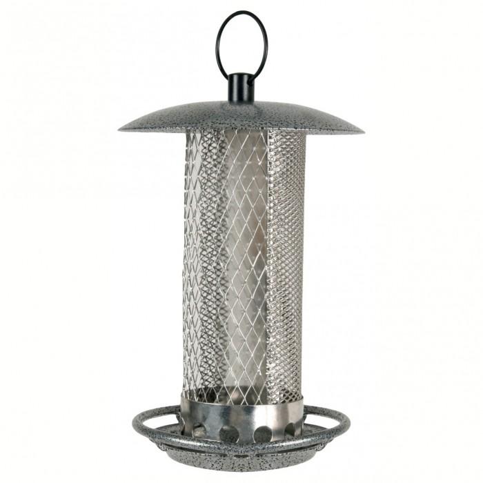 Distributeur steelo mixte mangeoire pour oiseaux des for Oiseaux metal pour jardin
