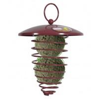 Distributeur de nourriture pour oiseaux des jardins - Spirale pour boules de graisses Zolux