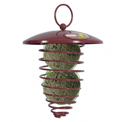 Spirale pour boules de graisses distributeur de for Oiseaux metal pour jardin