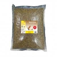 Complément pour poules et poussins - Vers de farine déshydratés Lifland