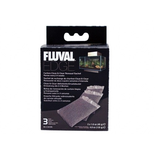 charbon actif filtration et a 233 ration fluval edge wanimo