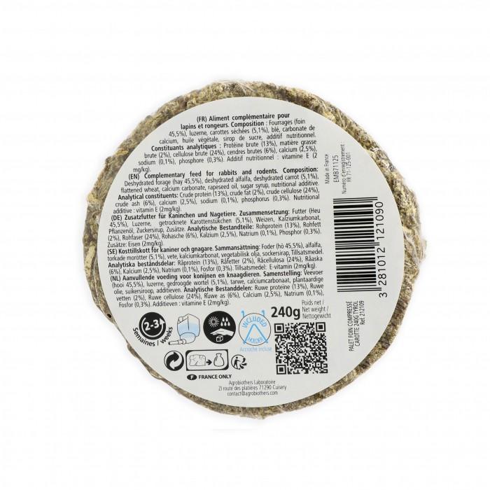 Foin pour rongeur - Palet de foin compressé pour rongeurs