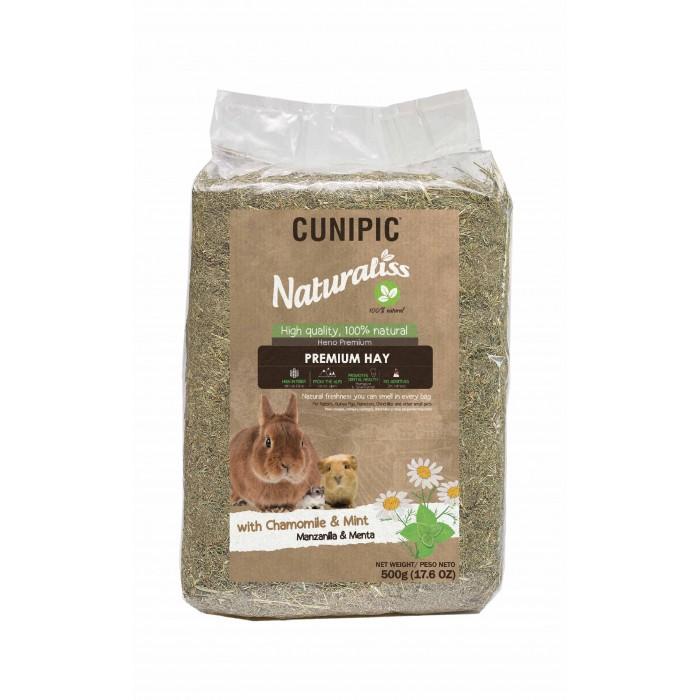 Foin pour rongeur - Foin Naturaliss à la Camomille et à la menthe pour rongeurs