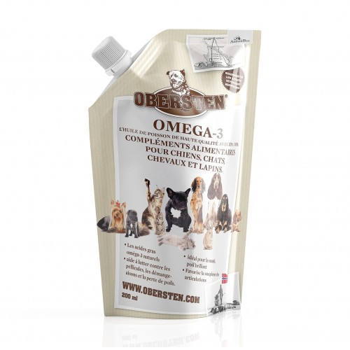 Friandise et complément  - Huile de poisson Omega-3 pour rongeurs