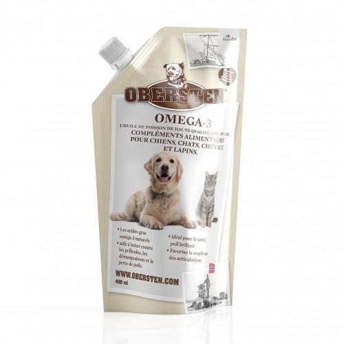 Friandise & complément - Huile de poisson Omega-3 pour chiens