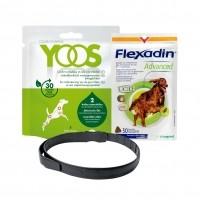 Complément et collier pour les articulations - Pack Flexadin advanced et collier Yoos pour le confort articulaire Vetoquinol et Ceva
