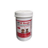 Complément minéral et vitaminé - Rouge - Chien et Chat de tout âge Vit'i5