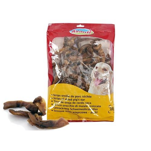 Friandise & complément - Strips d'oreilles de porc séchées pour chiens