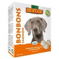 Friandise pour chien - Bonbons au saumon, douleurs articualaires et musculaires Biofood