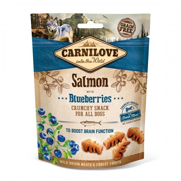 Friandise & complément - Crunch Snack - Saumon et myrtilles pour chiens